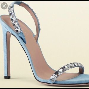 GUCCI Mallory embellished high heel sandals